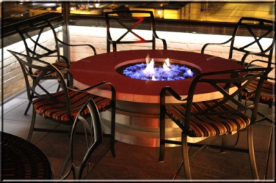 Round Fire Tables