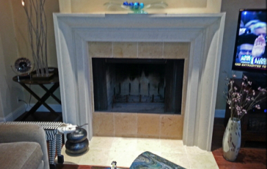 custom fireplace pan