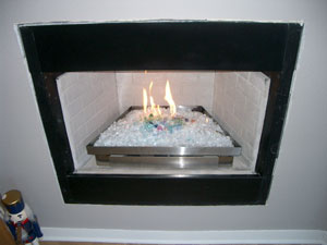 ventless burner conversion to fireglass