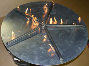 Custom 30 inch star shaped burner