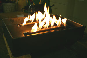 burner for ventless fireplace