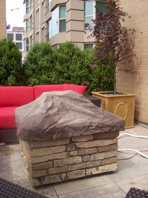 custom outdoor fire and water foutain feature 13