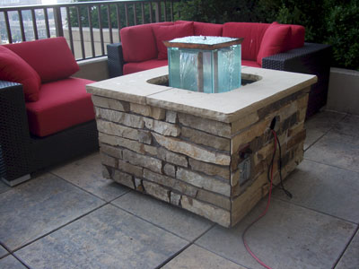 custom outdoor fire and water foutain feature 16