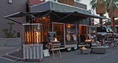 Palm Springs festival fireglass trailer
